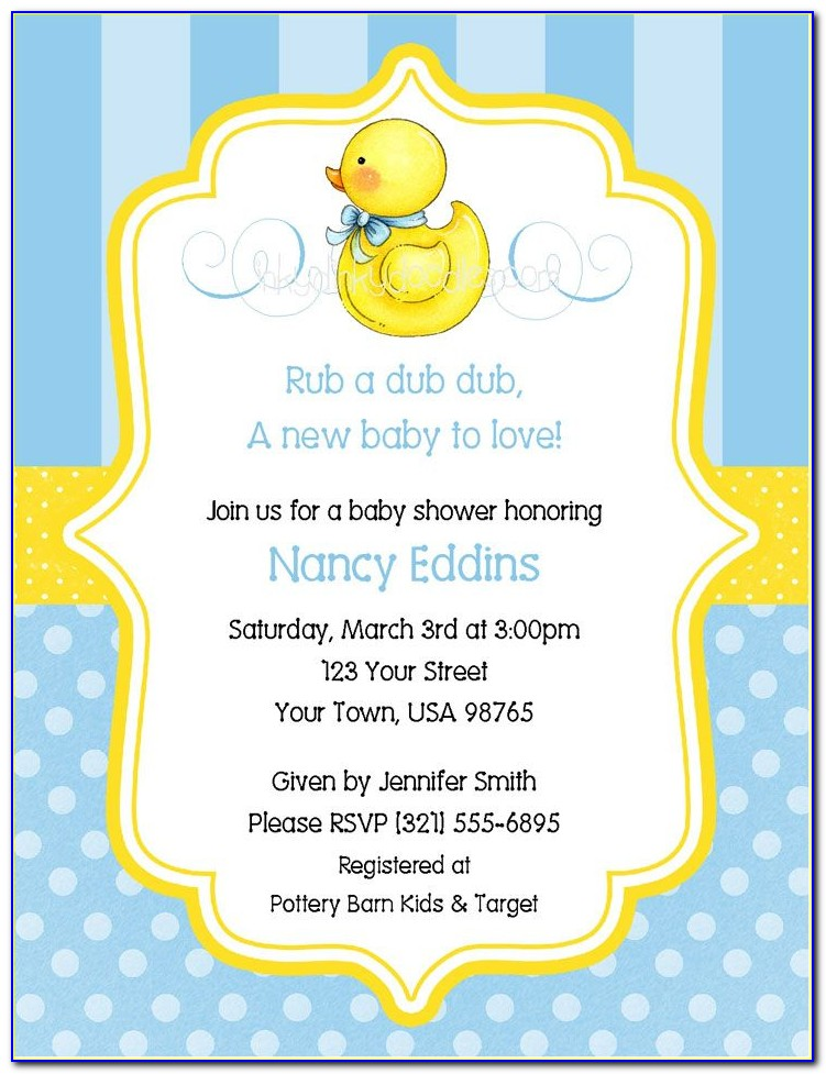 Free Duck Baby Shower Invitation Templates