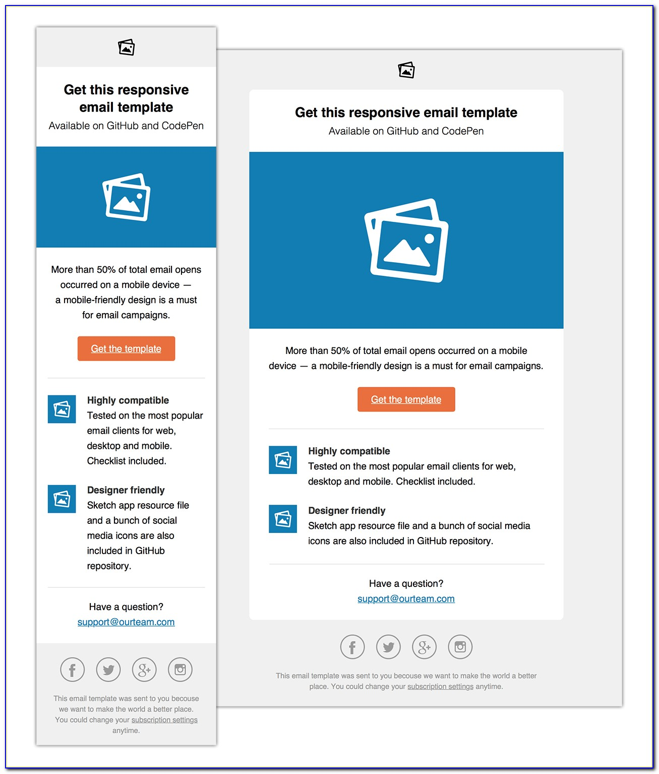 Free Email Mailer Template