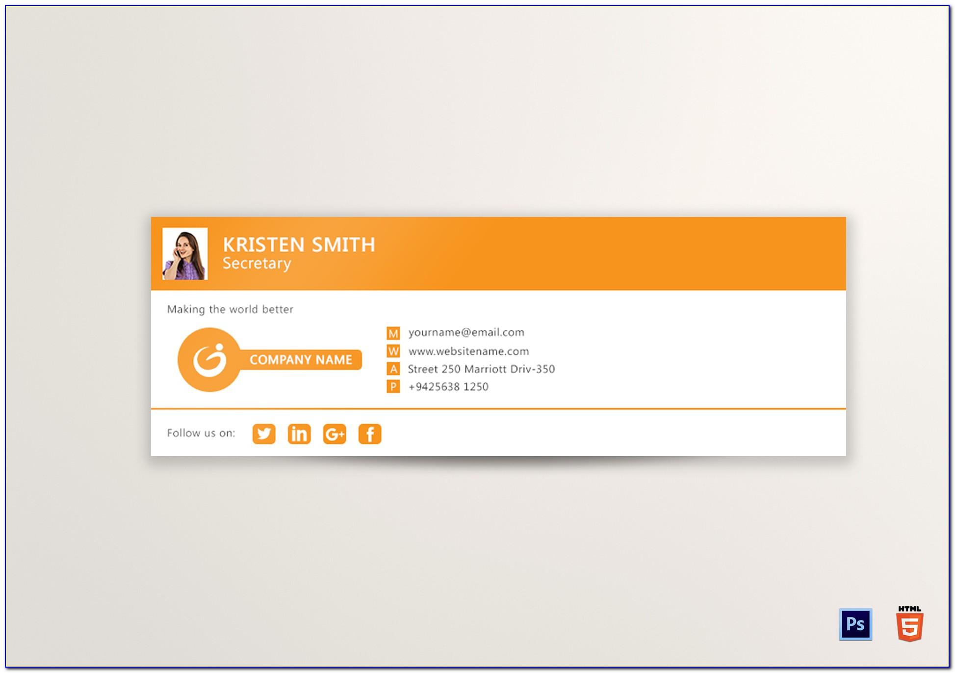 Free Email Signature Design Template