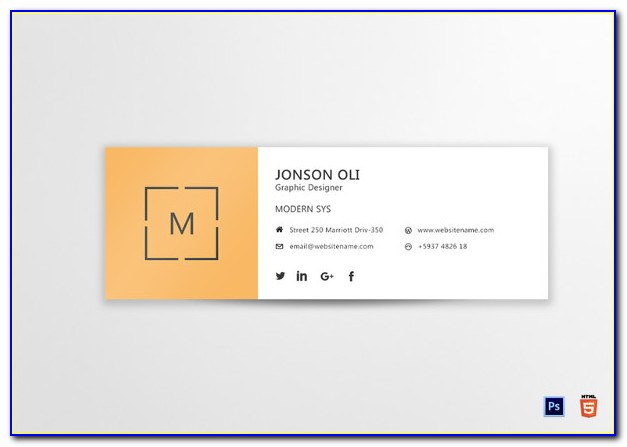 Free Email Signature Generator Template