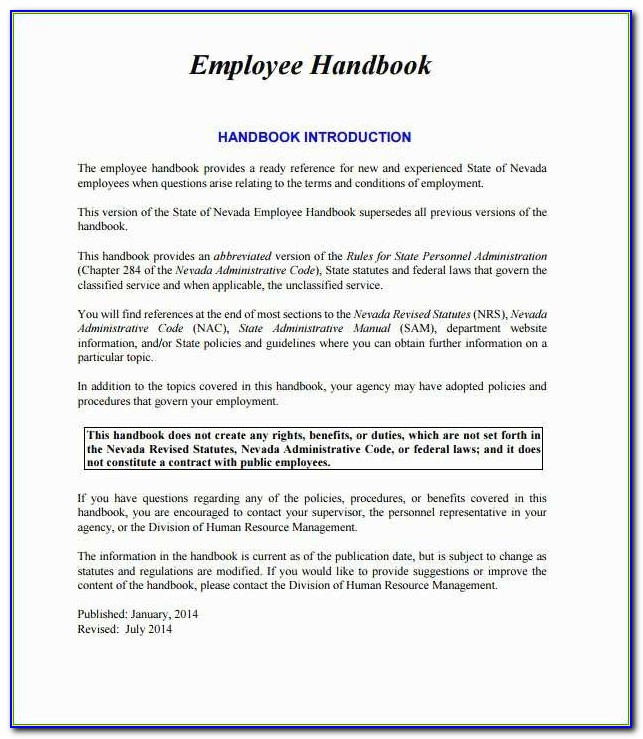 Free Employee Handbook Template For Small Business Staggering Small Business Employee Handbook Template Free 28 Images