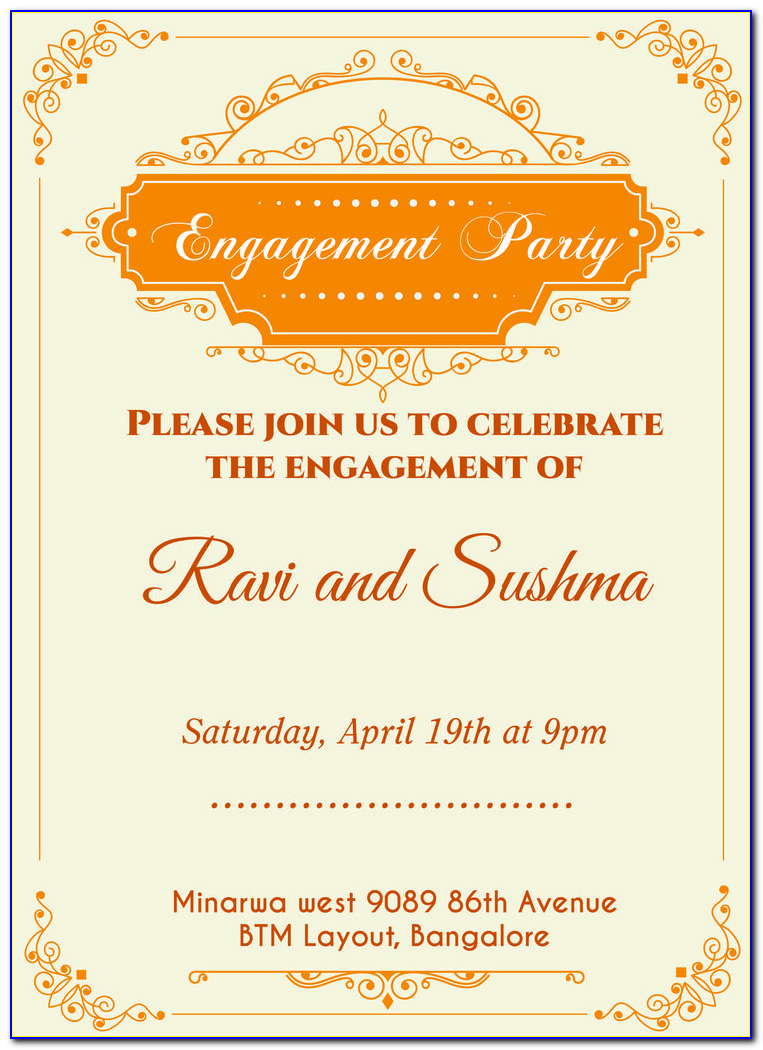 Free Engagement Invitation Templates Download