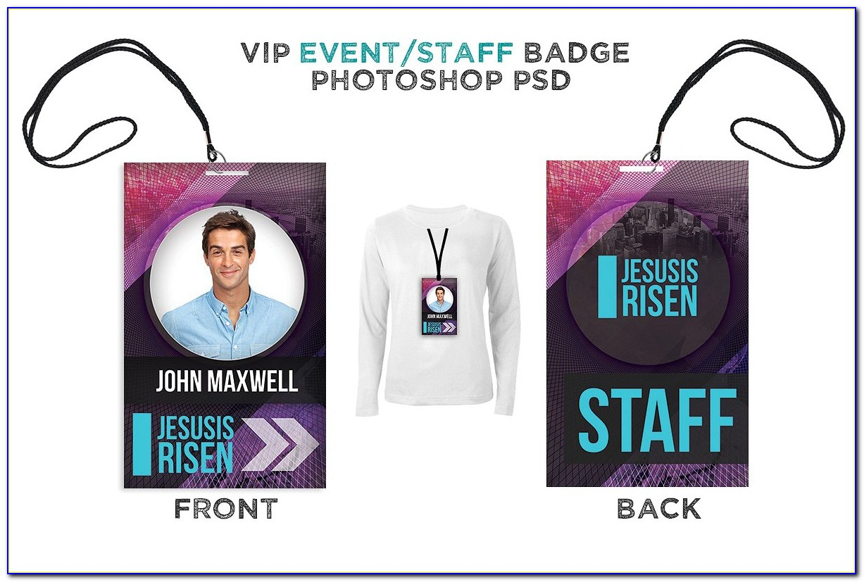 Free Event Staff Badge Template