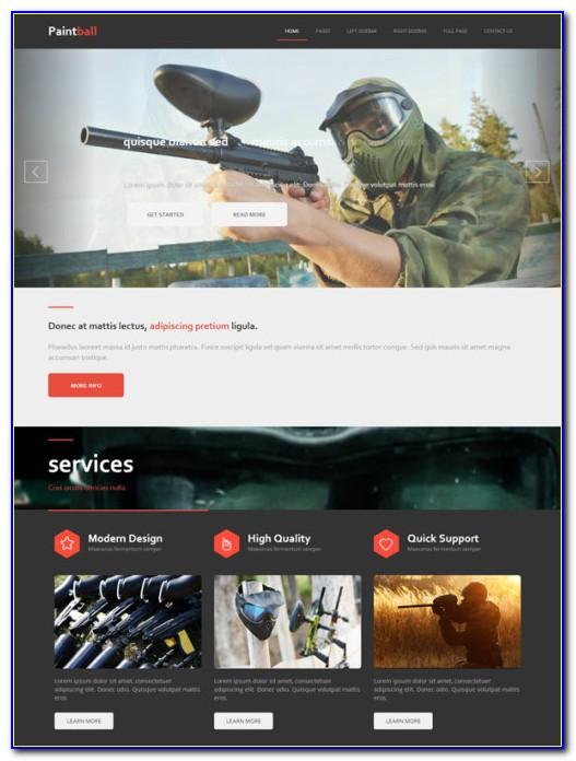 Free Firearms Website Templates