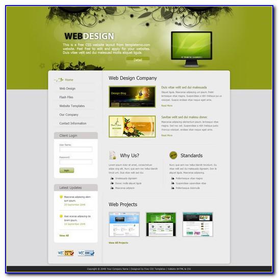 Free Flash Template Website
