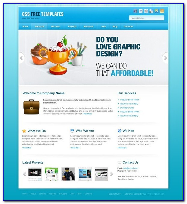 Free Flash Templates For Websites In Html With Css Download