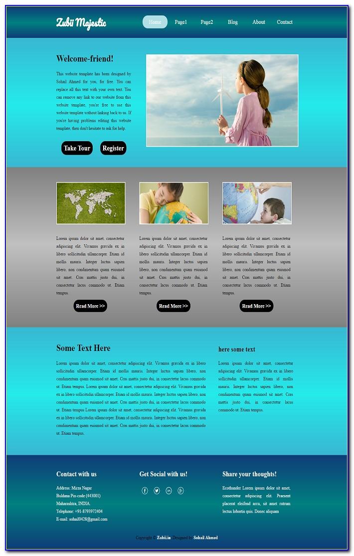 Free Flash Templates Website