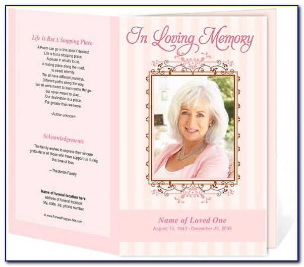 Free Funeral Card Templates Microsoft Word