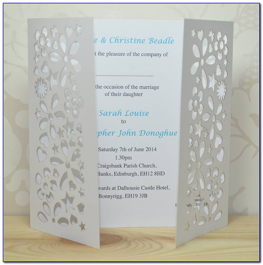 Free Gate Fold Wedding Invitation Templates