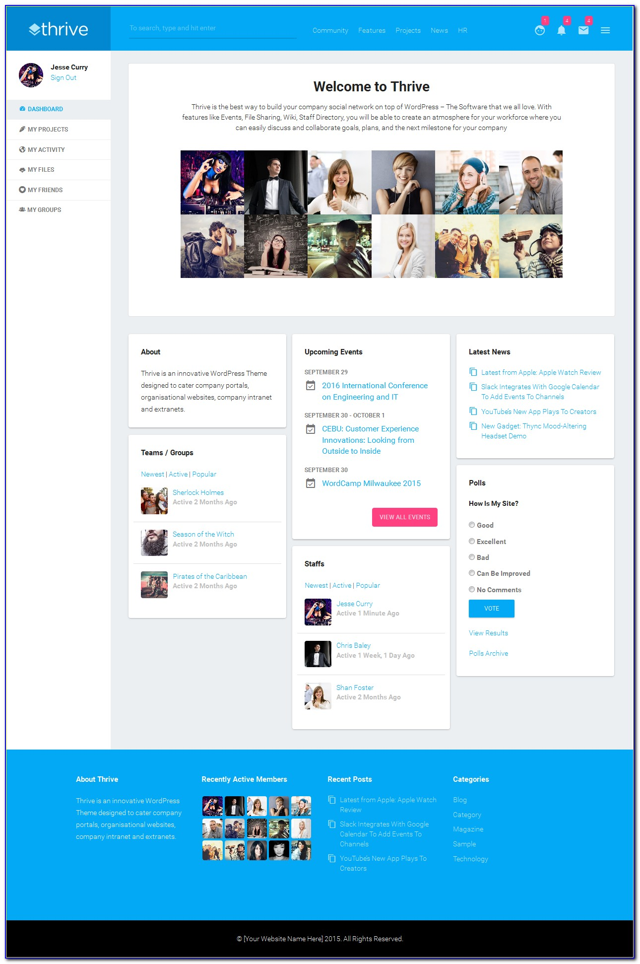 Free Intranet Portal Templates