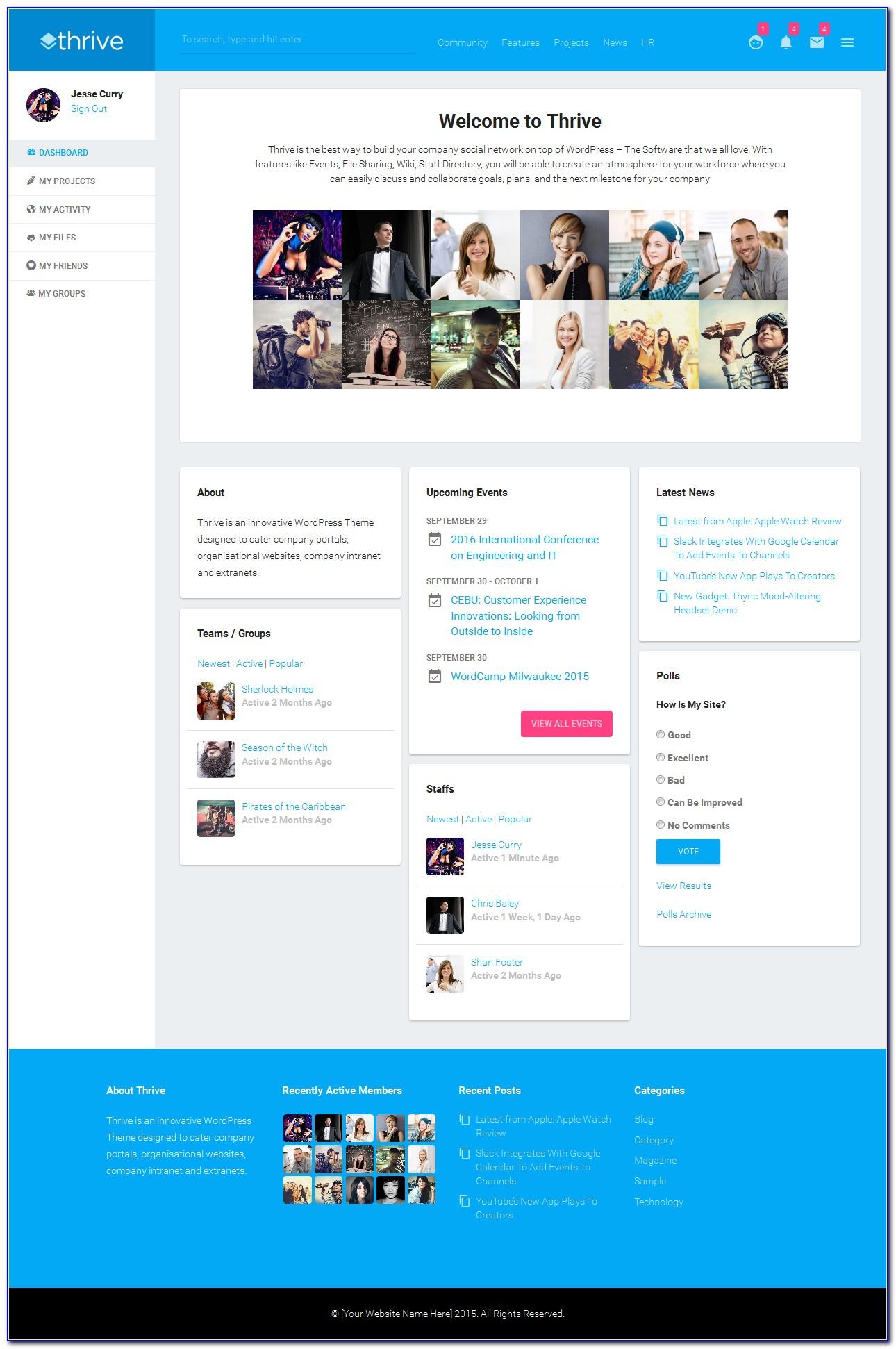 Free Intranet Portal Templates