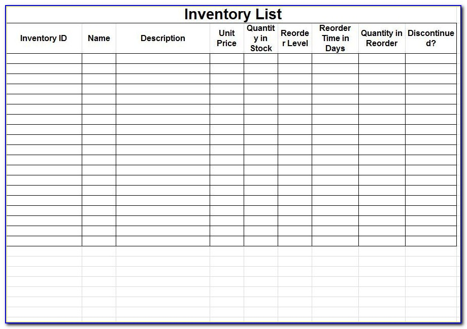 Free Inventory Tracking Spreadsheet Template Download