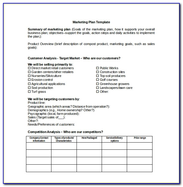 Free Marketing Consultant Proposal Template