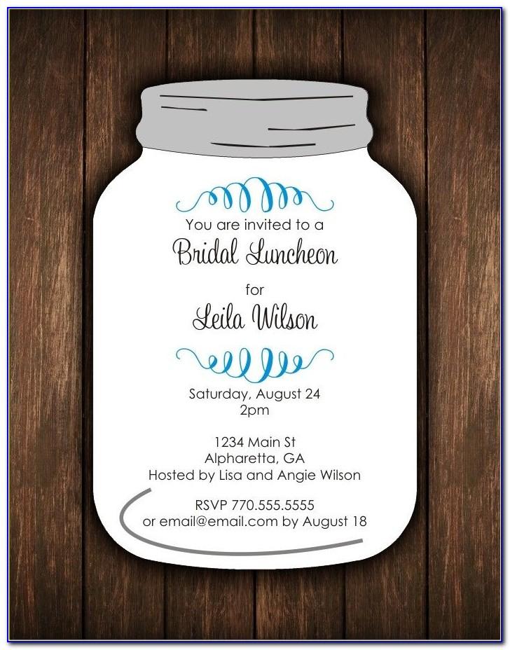Free Mason Jar Birthday Invitation Template