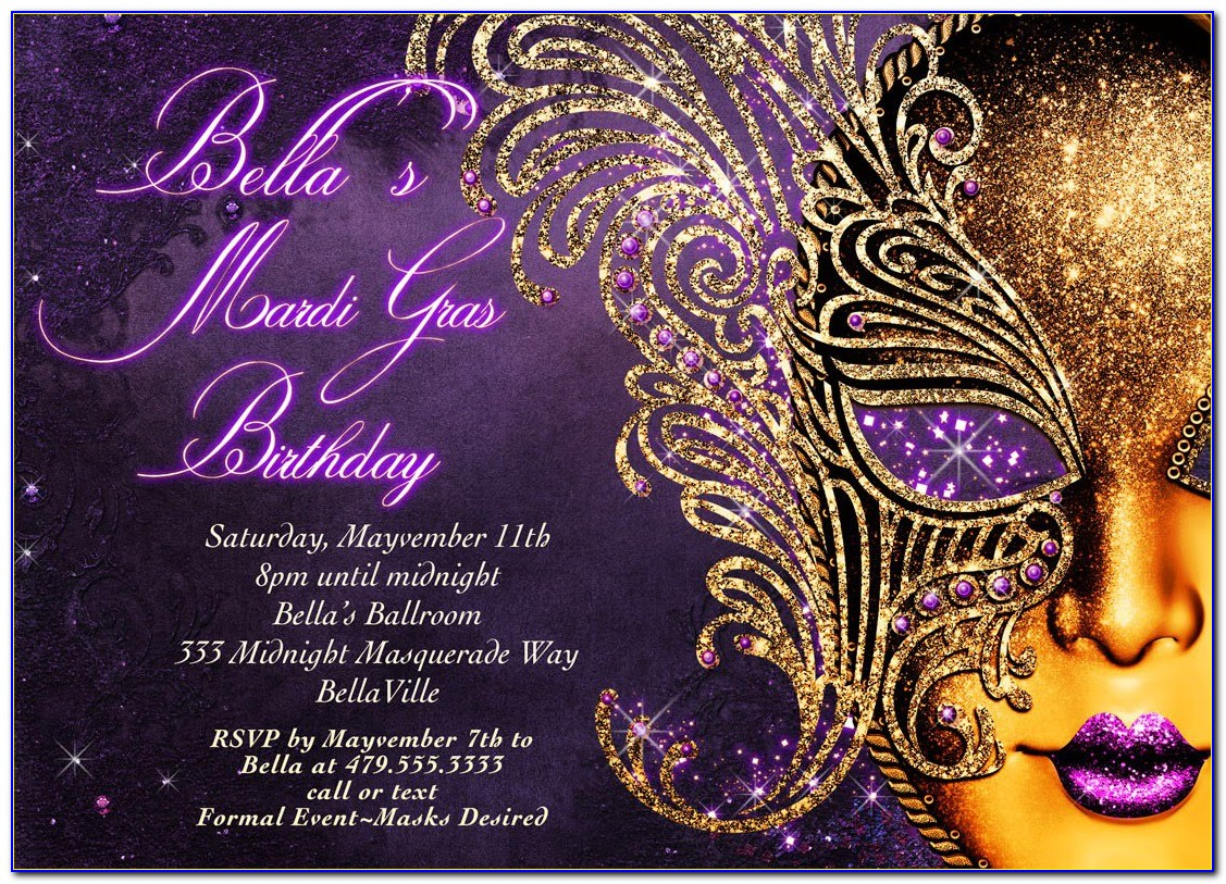 Free Masquerade Themed Invitation Templates