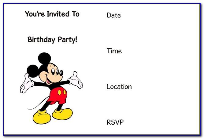 Free Mickey Mouse Birthday Invitation Maker