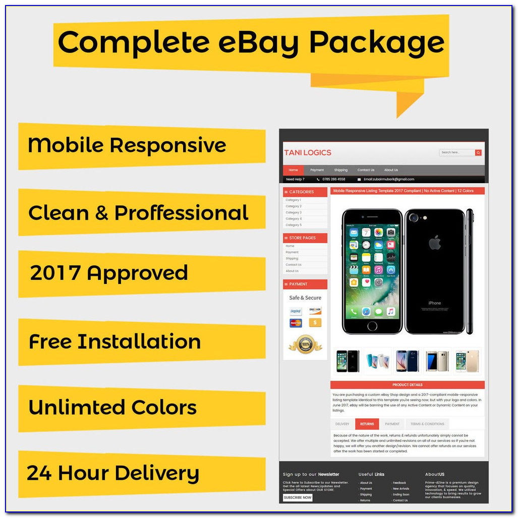 Free Mobile Responsive Ebay Listing Template