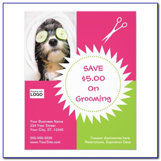 Free Pet Grooming Flyer Template