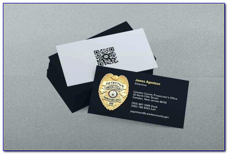 Free Police Business Card Templates
