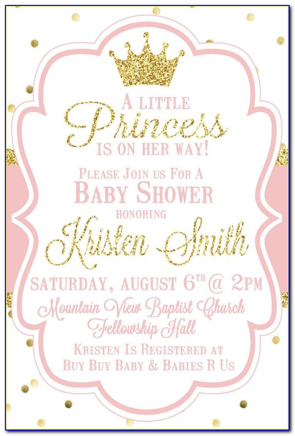 Free Princess Baby Shower Invitation Templates