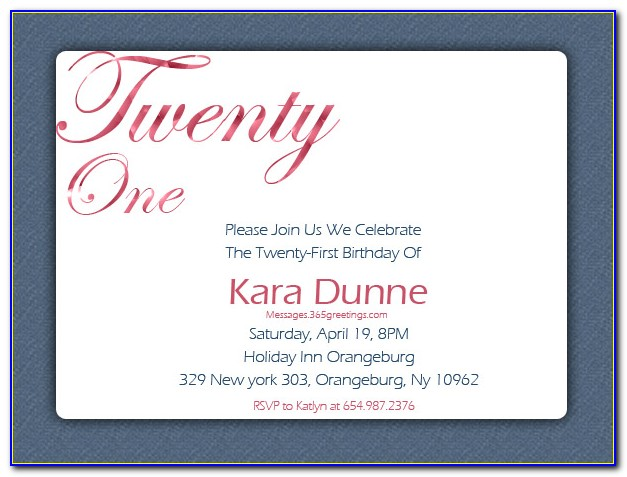Free Printable 21st Birthday Party Invitation Templates