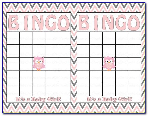 Free Printable Baby Shower Bingo Card Generator