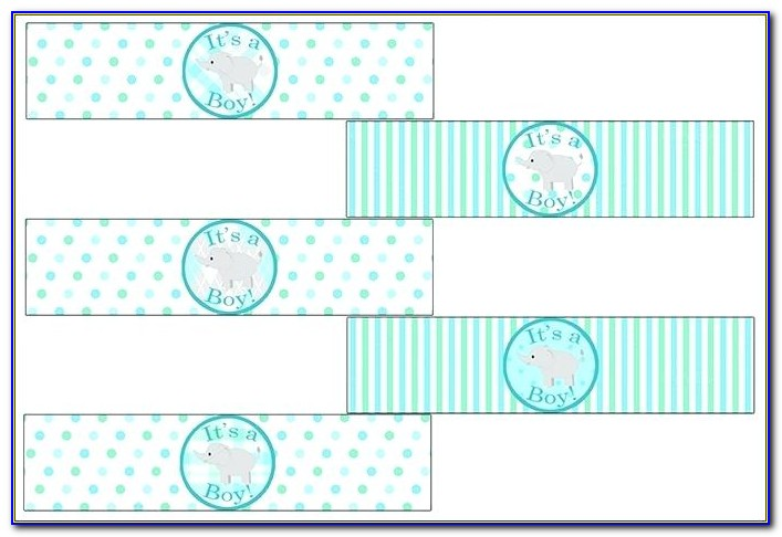 Free Printable Baby Shower Water Bottle Labels Template