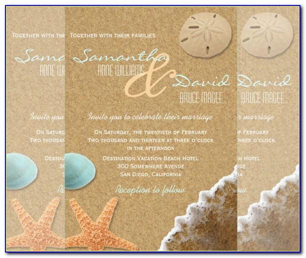 Free Printable Beach Wedding Invitation Templates