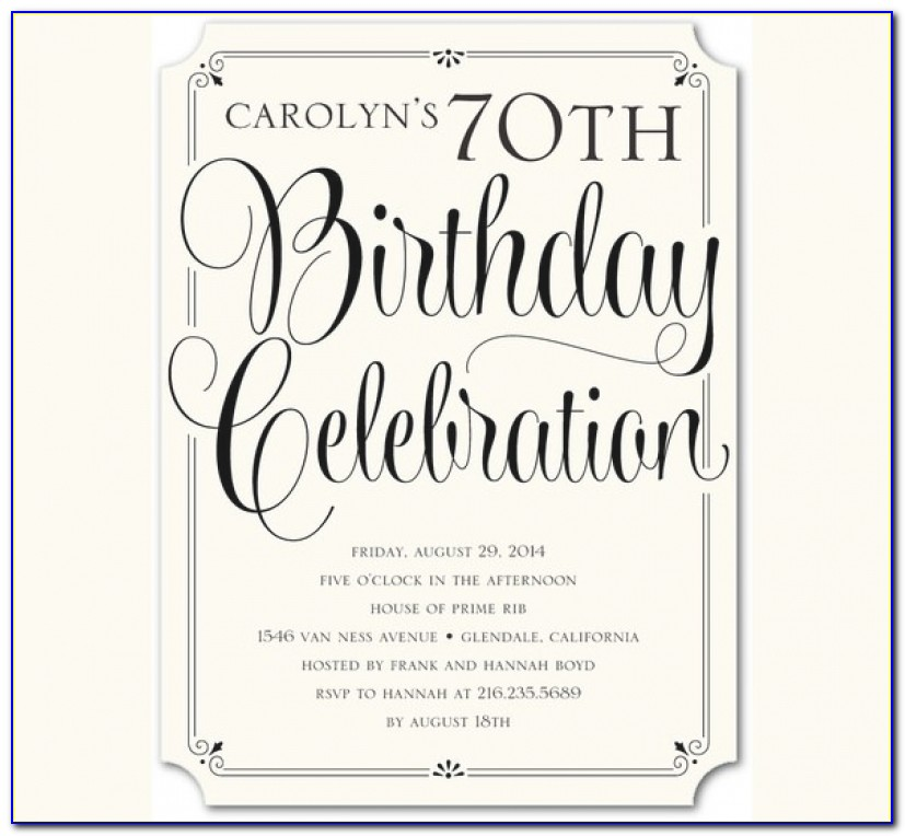 30+ Adult Birthday Invitation Templates – Free Sample, Example