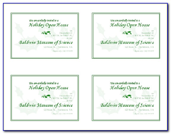 Free Printable Christmas Open House Invitation Templates