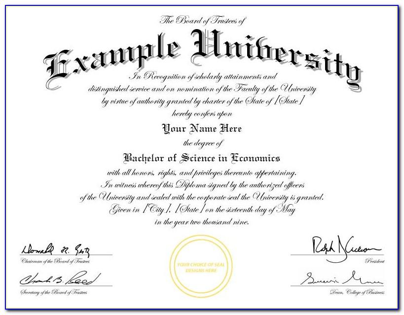 Free Printable College Diploma Templates