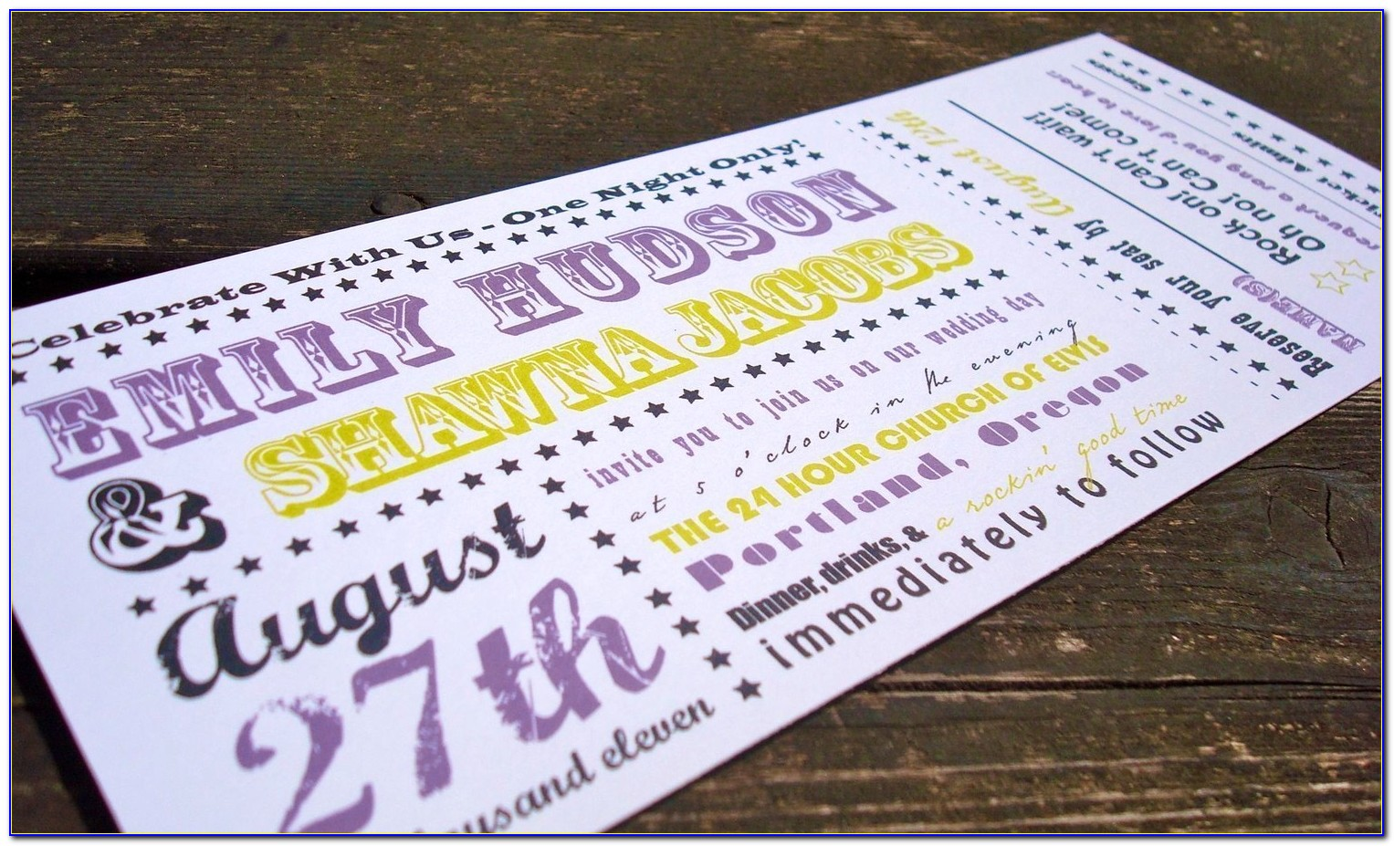 Free Printable Concert Ticket Invitation Templates