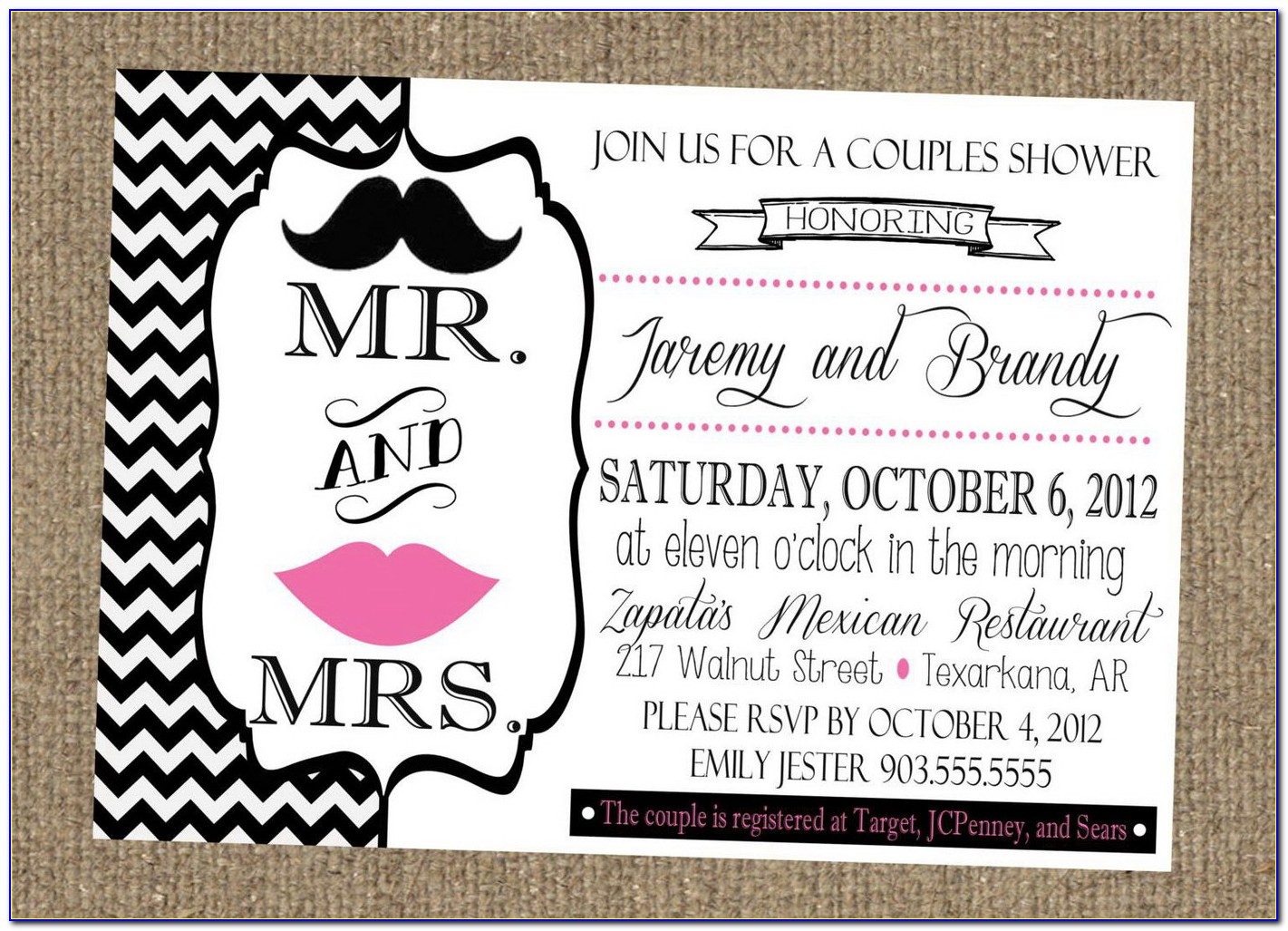 Free Printable Couples Wedding Shower Invitations Templates
