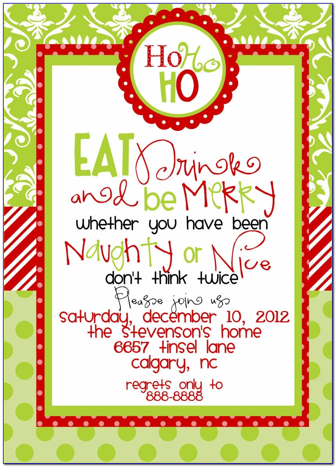 Free Printable Holiday Invitation Templates