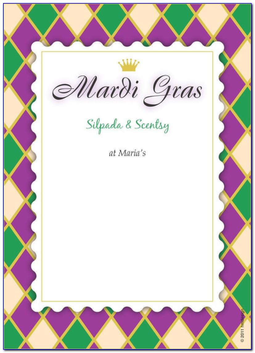 Mardi Gras Party Invitations Templates Mardi Gras Invitation Free