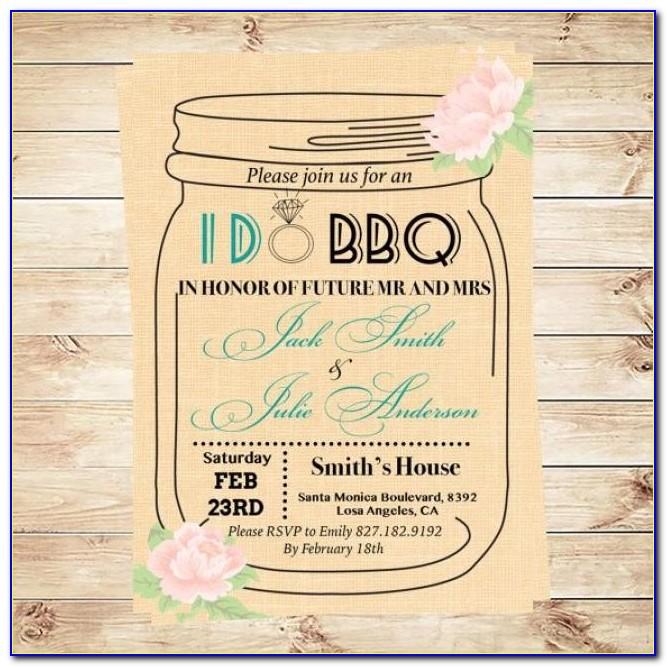 Free Printable Mason Jar Wedding Invitation Template