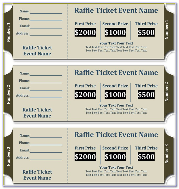 Free Printable Raffle Ticket Template With Numbers