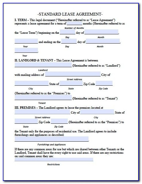 Free Printable Tenancy Agreement Template Uk