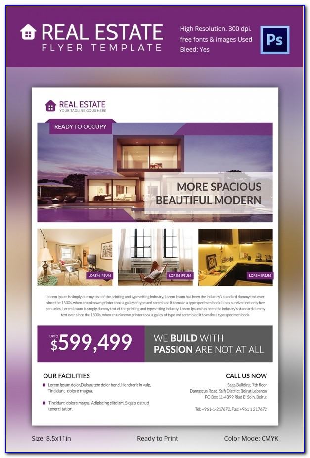 Free Real Estate Flyer Templates For Mac