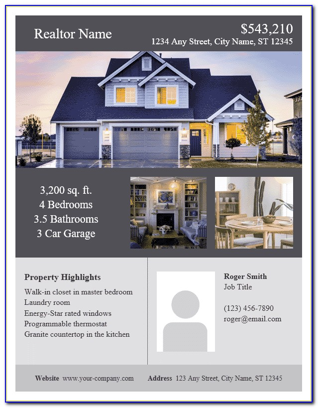 Free Real Estate Flyer Templates Photoshop