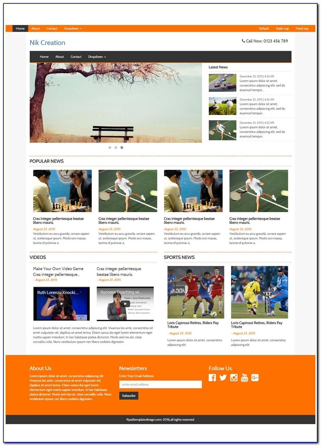 Free Responsive Magazine Html Templates Free Html Templates