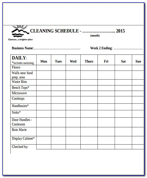 Free Restaurant Cleaning Checklist