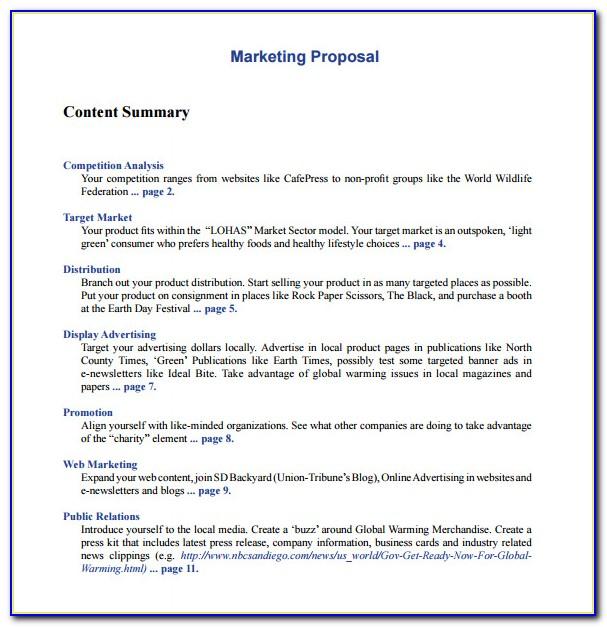 Free Sample Marketing Proposal Template