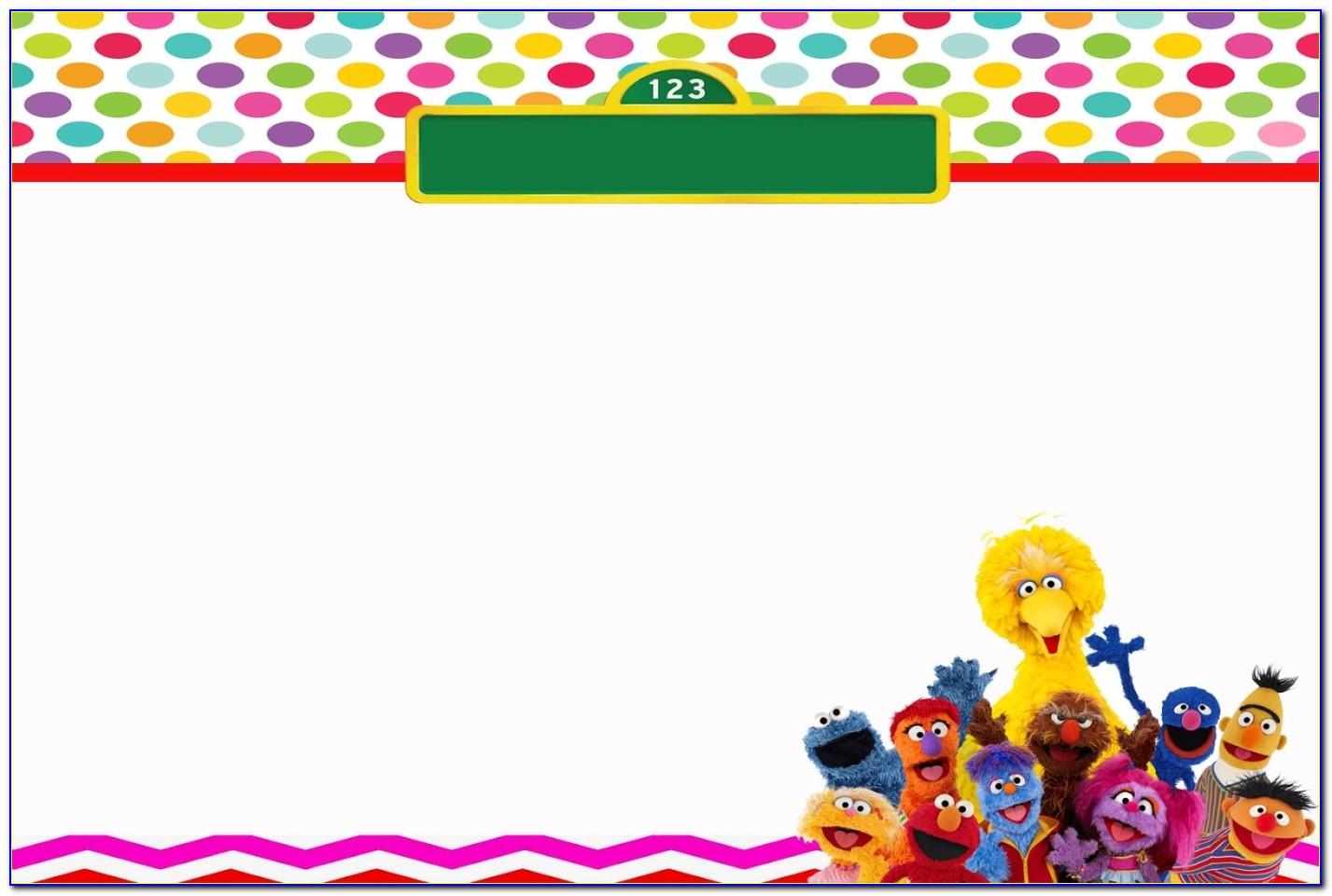 Free Sesame Street Birthday Invitation Template