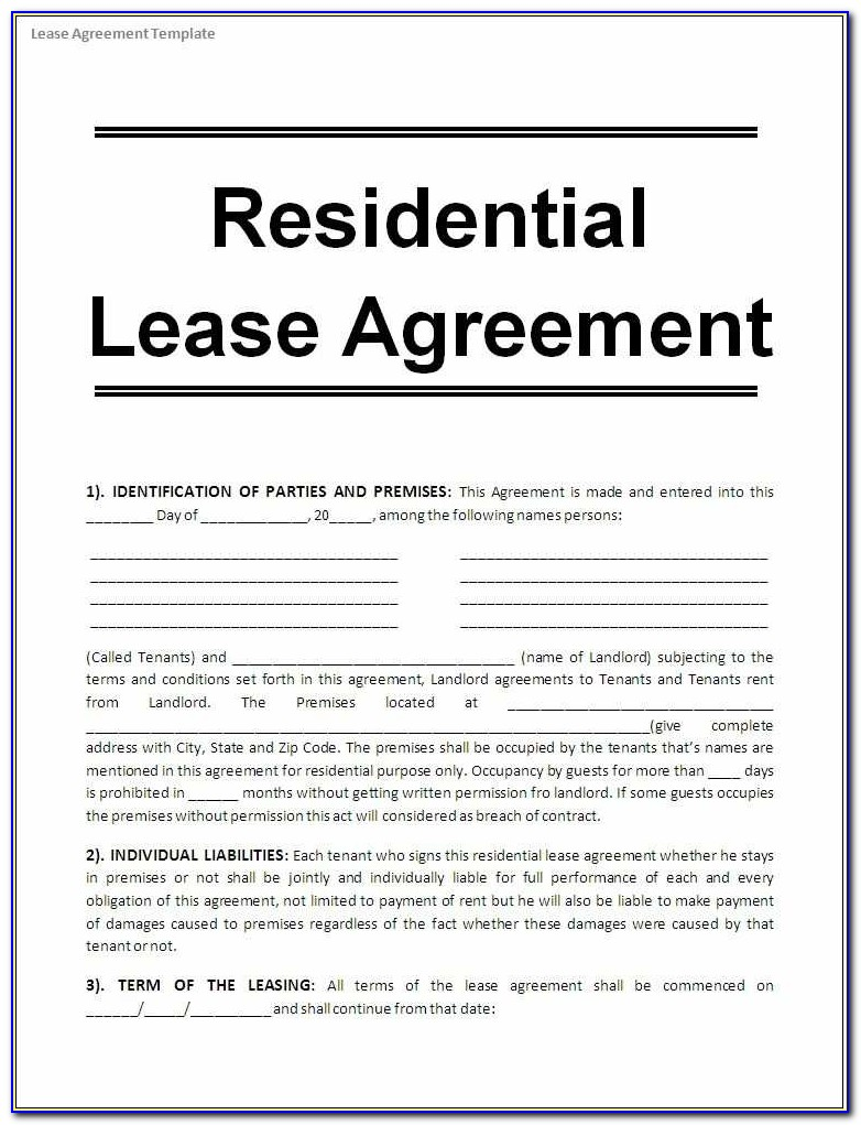 Simple Rental Lease Agreement Template Detail Printable Sample Free Lease Agreement Template Form Su 27210