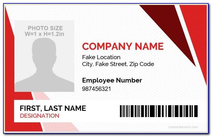 Free Staff Id Badge Template