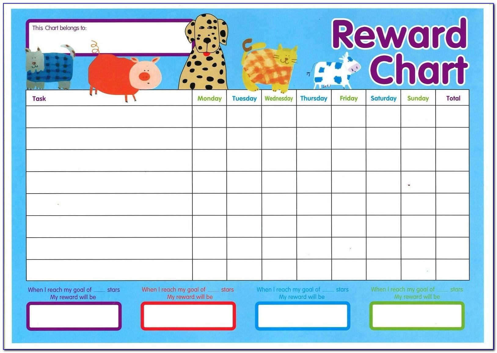 Free Sticker Reward Chart Template