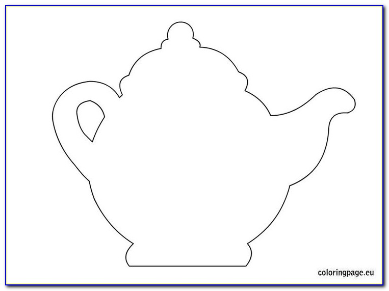 Free Teapot Shaped Card Template