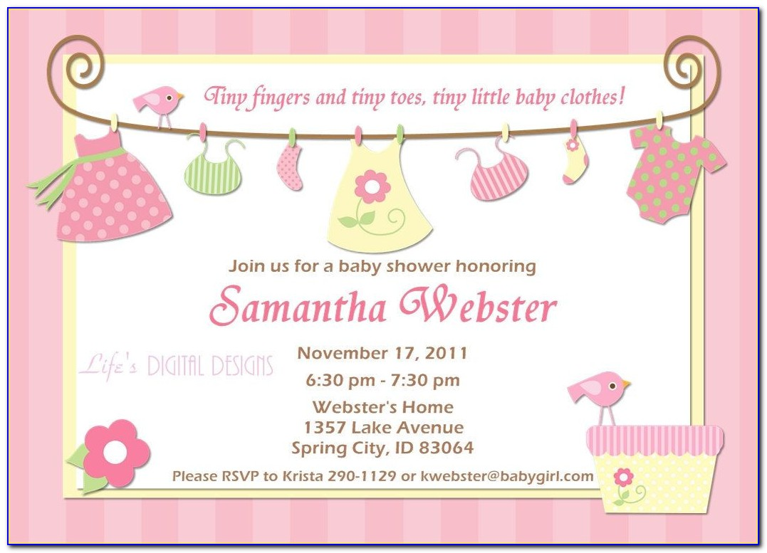 Free Template For Baby Shower Invitations