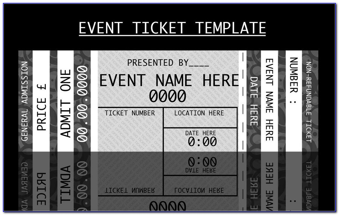 Free Template For Concert Ticket Invitation